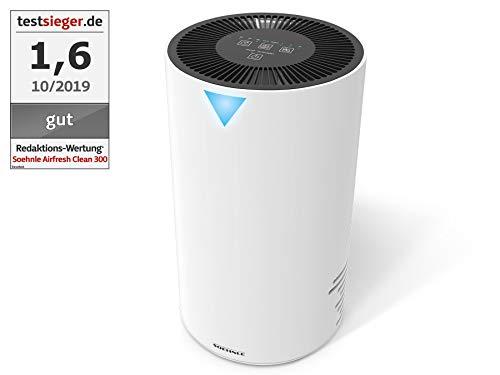 Soehnle Airfresh Clean 300 Luftreiniger mit dreischichtigem Filtersystem, Luftwäscher für effiziente Luftreinigung, Air Purifier ideal für Allergiker