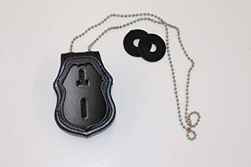 NYPD Sergeant Belt Clip Holder with Pocket and Chain (Cutout PF287)