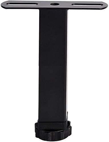 SunShiBin Row Skelett Bettfuß Stützfuß Bettfuß Möbelbein Bett Stützfuß verstellbarer Bettrahmen Zubehör T-förmigen schwarz (Color : Black T Foot, Size : 15cm)