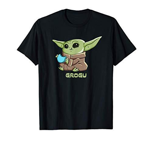 Star Wars The Mandalorian The Child Grogu Blue Macaron Camiseta
