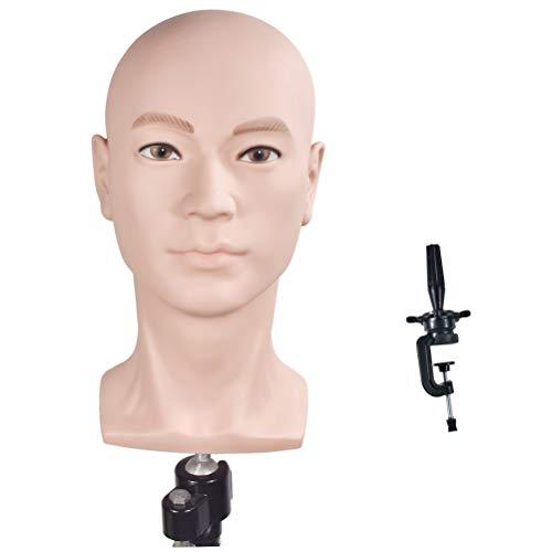 WanSi - Cabeza de maniquí para crear pelucas o mostrar sombreros, con abrazadera gratis