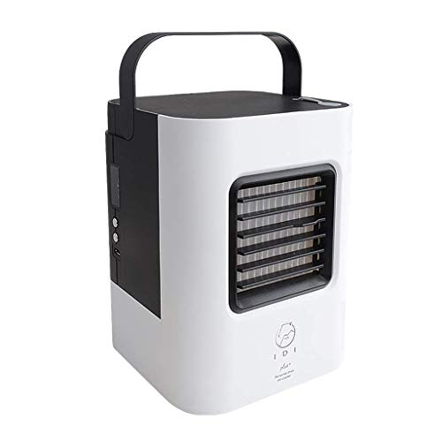 JANEFLY Micro Air Conditioner Plus Water Mini Electric Fan Portable Personal Type USB Household Small Air Conditioning Air Cooler 13.1 * 13.1 * 17cm Durable