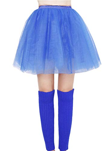 Seawhisper Krümelmonster Kostüm Tüllrock Blau Damen Tutu Petticoat Stulpen M und M 70s 80s Bekleidung Zubehör