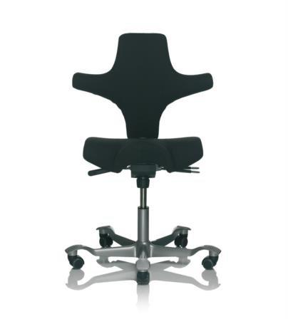 HAG Capisco 8106 Sattelsitz Bürostuhl in Paloma Schwarz Exclusiv Leder