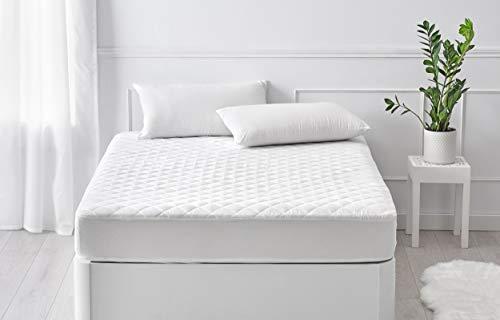 Pikolin Home - Protector/cubre colchón acolchado impermeable, transpirable, hipoalergénico y extra suave con faldón elástico