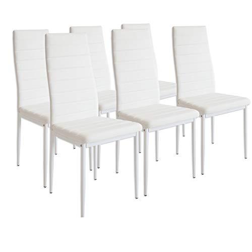 Albatros 2699 MILANO Set de 6 sillas de comedor, Blanco 🔥