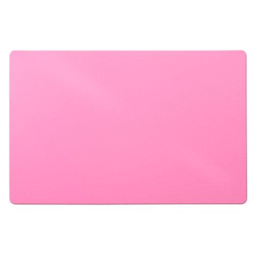 Trendige Bodenschutzmatte für Hartböden | PVC- und phthalatfrei | Pink | Größe wählbar (120 x 75 cm)