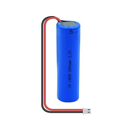 zhoudashu Batería Li Ion De 3.7v 3800mah 18650, Batería Recargable con El Cable De Xh 2p Plug + DIY