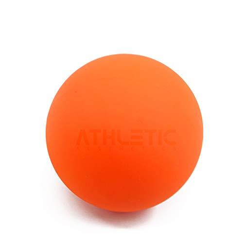 ATHLETIC AESTHETICS Massage-Ball [6cm Durchmesser] - Als Lacrosse-Ball und Faszien-Ball zur Selbstmassage und zur Triggerpunkttherapie (genaue Behandlung von Verspannungen) geeignet (Orange)