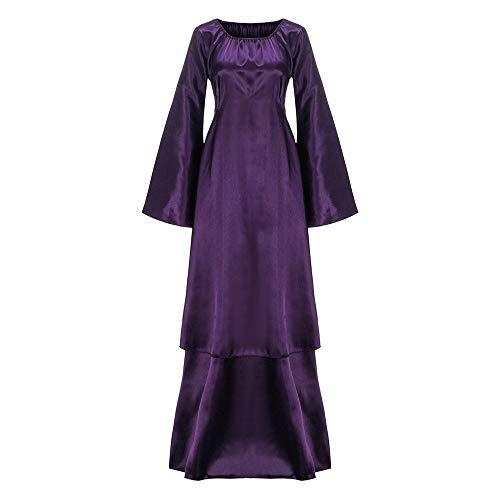 Briskorry Vestido gótico, disfraz de Halloween para mujer, vestido de noche, sexy, ajustado, vestido de fiesta, vestido de baile, vestido de baile, vestido de vendaje, vestido maxi, morado, L