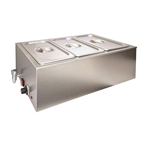 Bain Marie Wärmebad Speise-wärmer elektrisch Gastronomie, Bain Marie Größe:Bain Marie1/3