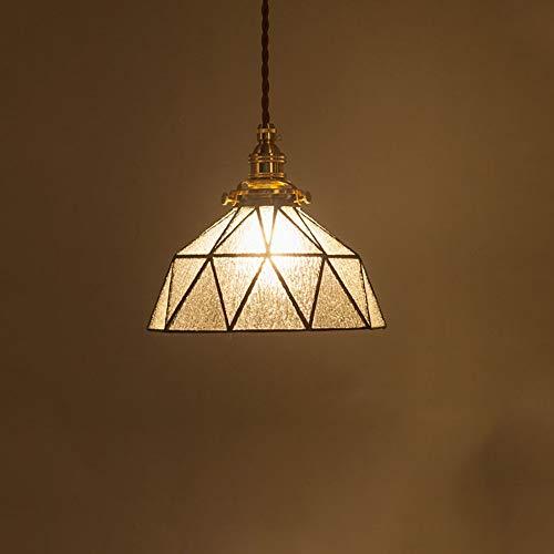 Luce Plafoniera Diámetro 20cm Restaurante Lámpara de noche Sala de estar Estudio Comedor Iluminación Iluminación Transparente Vintage Estilo mediterráneo Latón Araña de cristal hecha a mano