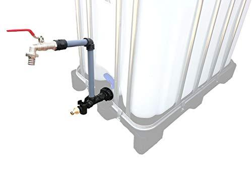 FN-Technik - Collo di cigno con attacco compatibile Gardena adatto per contenitori IBC
