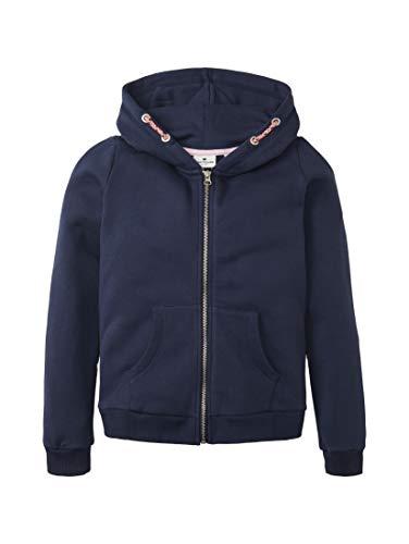 TOM TAILOR Mädchen Strick & Sweatshirts Sweatjacke mit Nietenmotiv Peacoat Blue,164
