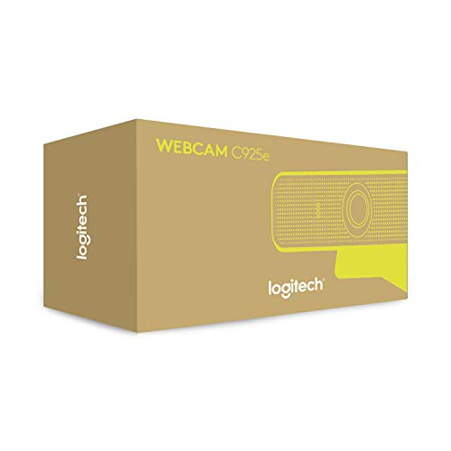 Logitech C925e Business-Webcam, HD 1080p, 78° Blickfeld, Autofokus, RightLight 2 Technologie, Abdeckblende, 2 Stereomikrofone, Für Skype Business, WebEx, Lync, Cisco, etc., PC/Mac - Schwarz