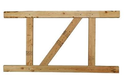 """E-Z Fit Gate Kit - 2-Rail Douglas Fir, 36""""-48"""" high / 36""""-60"""" wide"""