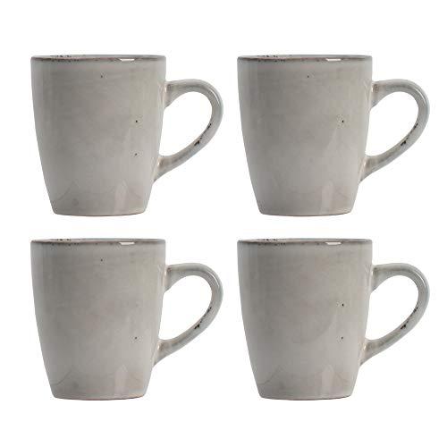 ProCook Oslo Tasse - 4-teilig - Becher - Steinzeug - Dunkelgrau - handgearbeitetes Design - Steingut - Kaffeebecher