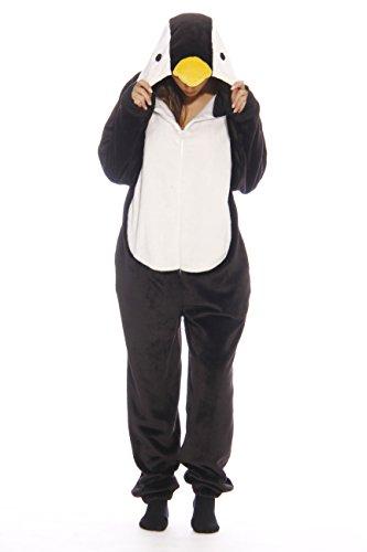 6262-M Just Love Adult Onesie / Onesies / Pajamas,Black Penguin