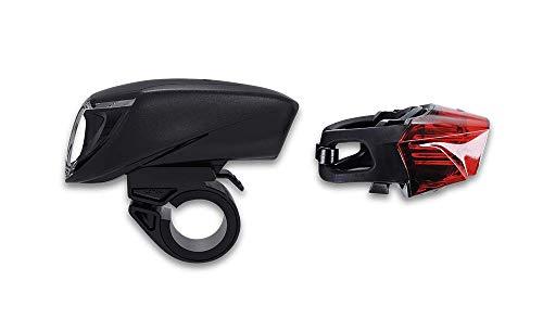 RFR Tour 90 USB Fahrrad Beleuchtungsset schwarz
