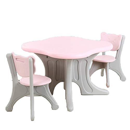 Ensembles de tables et chaises Table pour Enfant Table D'étude Multifonctions Ensemble Table Et Chaises À La Maison Jardin d'enfants 1 Table 2 Chaises Pliage en Plastique