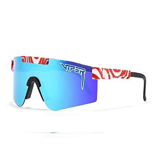 RSRZRCJ Pit Vipers Gafas de sol deportivas para hombre y mujer Gafas de sol polarizadas para ciclismo, béisbol, pesca, esquí para correr, golf C21