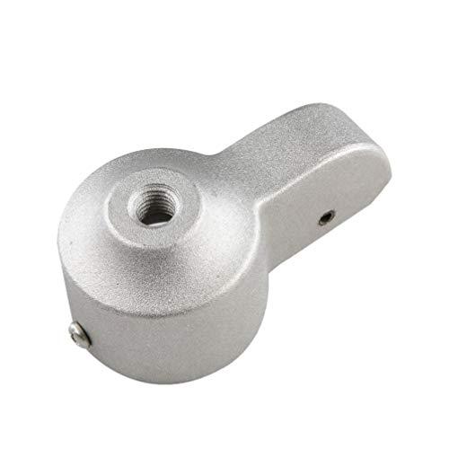 Yardwe Fahnenmaststapler mit Nylonrolle Schwerlaststangenfall Fahnenmastzubehör (Silber 2 Zoll)