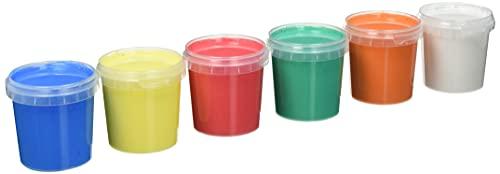 Feuchtmann 633.0626 - KLECKSi Fingermalfarbe Basic Maxi, 6 Dosen à ca. 150 g, 6 hochwertige Farben für Kinder ab 2 Jahren, ideal für Kindergarten, Kita, Schule und Hort zum kreativen Spielen