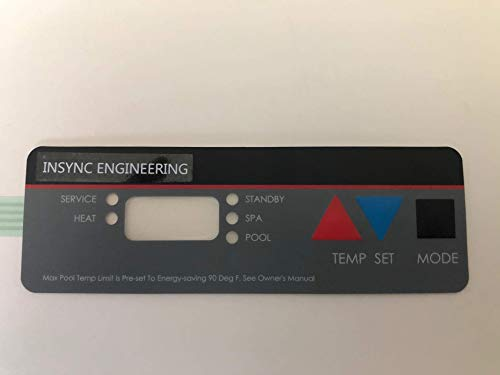 INSYNC ENGINEERING Compatible with All Hayward H Series Pool Heater Replacement Control Panel KEYPAD Membrane Switch Designed and Manufactured -NOT AFFILIATED in Any Way with Hayward Pool Products.