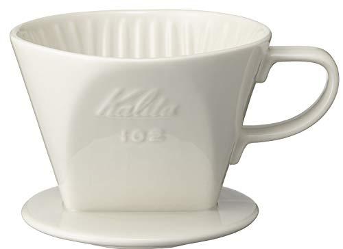 カリタ Kalita コーヒー ドリッパー 陶器製 2~4人用 ホワイト 102-ロト #02001