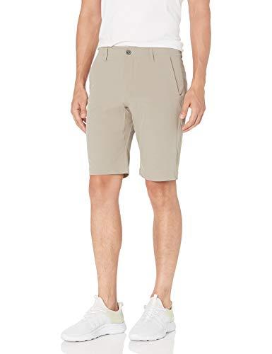 Hi-Tec Men's Mohegan Lightweight Easy Care Comfort Snap Cargo Shorts, CEMENT, 34