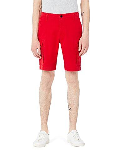 Amazon-Marke: MERAKI Herren Cargo Shorts, Rot (Racing Red), 2XL