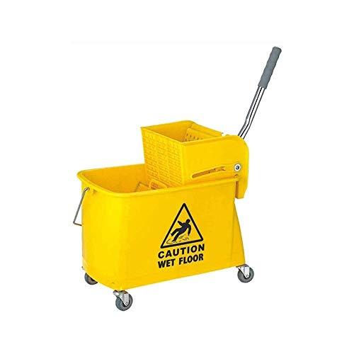 Deluxe Heavy Duty Mop Eimer - Wringer Wischsystem 20 Liter in Gelb