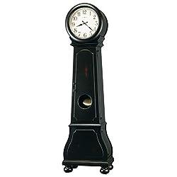 Howard Miller Graham Floor Clock 547-103 – Worn Black with Quartz & Dual-Chime Movement