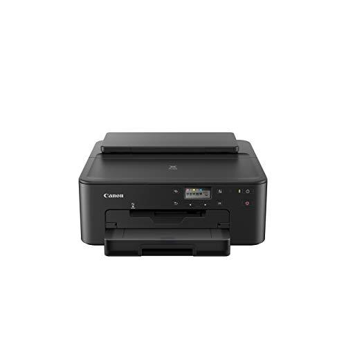 Canon PIXMA TS705 Drucker Tintenstrahl DIN A4 (WLAN, LAN, 5 separate Tinten, automatischer Duplexdruck, 2 Papierzuführungen, Papierkassette 250 Blatt, Apple AirPrint, ) schwarz