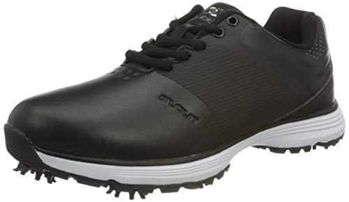 Stuburt Golf SBSHU1125 PCT II Dri-Back - Scarpe da Golf Impermeabili con Punta in Microfibra, Uomo, Scarpe da Golf, SBSHU1125, Nero, 8.5 UK