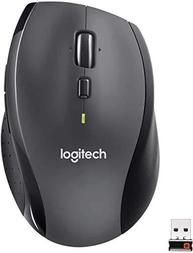 Logitech M705 Kabellose Maus für Windows/Mac, Chrom, für Laptop und Computer, Schwarz (Generalüberholt)