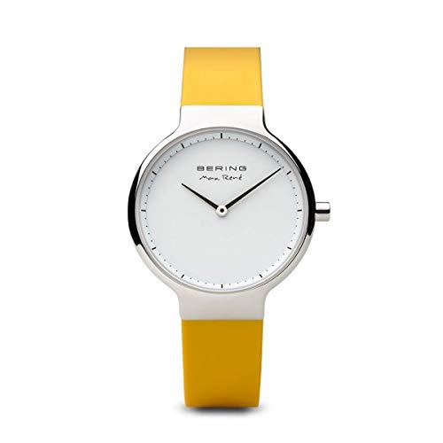 BERING Damen-Armbanduhr Analog Quarz Silikon 15531-600