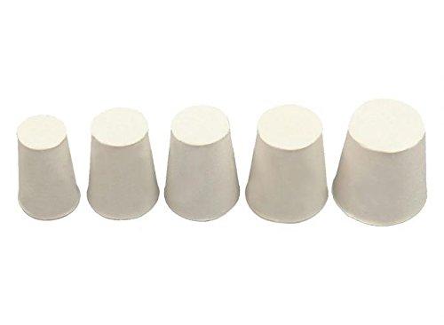 Onpira 10x Gummistopfen Gummi Stopfen konisch Pfropf Verschluss Korken Silikon Weiß Größe 0
