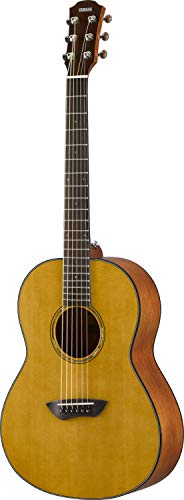 Yamaha CSF1M VN Parlor Size Acoustic Guitar with Hard Gig Bag, Vintage Natural