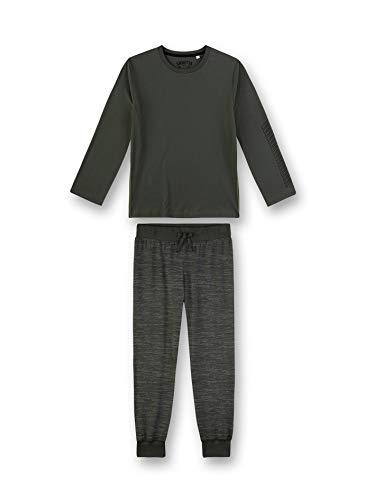 Sanetta Jungen Pyjama lang Zweiteiliger Schlafanzug, Grün (grün 4991), (Herstellergröße:152)