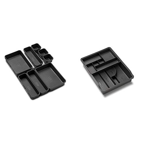 Granite madesmart Value 8-Piece Interlocking Bin Pack Customizable Multi-Purpose Storage /& Cuisinart CTG-00-3MS Set of 3 Fine Mesh Stainless Steel Strainers VALUE COLLECTION