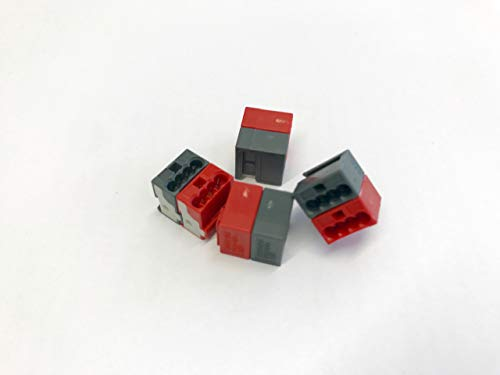 50 Stück Wago Steckverbinder für EIB-Anwendungen, Farbe: dunkelgrau und rot verrastet