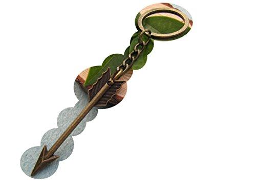 2Pcs Bronze Arrow Keychain, Arrow Charm Keychain,Boho Keychain, Arrow Keyring, Archer Keychain,Arrow Jewelry
