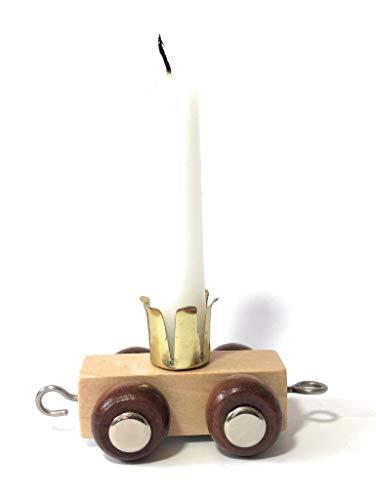 Buchstabenzug | Geburtstags Zahlen und Waggon mit Kerzenhalter | Holzeisenbahn | EbyReo® Namenszug aus Holz | personalisierbar | Geburtstag oder als Deko für den Geburtstagstisch (Waggon Kerze)