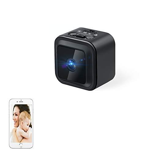 WiFi Cámara Espía UYIKOO Mini Cámara de 140 Grados HD 1080P Cámara de Niñera de Seguridad IP Inalámbrica con Detección de Movimiento y Aplicación de Soporte de Visión Nocturna para Bebés/Mascotas