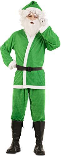 EUROCARNAVALES S.A. Disfraz de Papá Noel Verde para Hombre Talla M/L