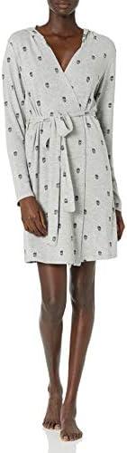 PJ Salvage Women s Minimalist Robe Heather Grey XS product image