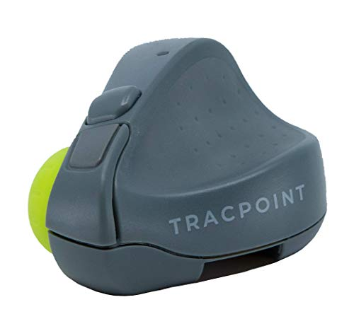 TRACPOINT Presentation Clicker and Travel Mouse | Trackpad Features with Premium Ergonomic Design by Swiftpoint | Wireless, Bluetooth, Rechargeable