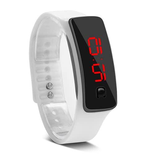 Eosnow Reloj Digital, Reloj De Pulsera Deportivo Duradero para IR Al Trabajo(Blanco)