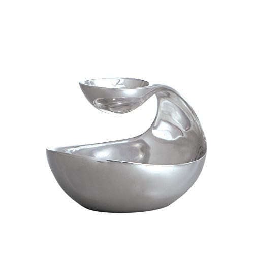 Nambe Two-Tiered Scoop Server Mini – 20oz Lower and 2oz Upper Capacity